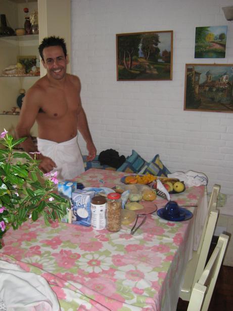 Gil at breakfast