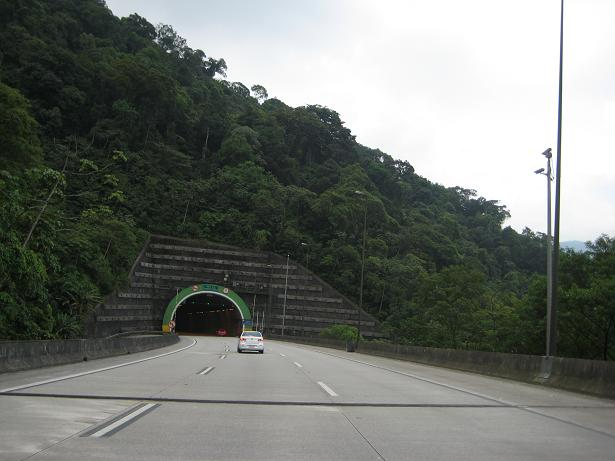 One tunnel we drove through