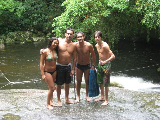 The four of us infront of the natural water slide